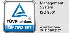 Zertifizierung gemäß DIN EN ISO 9001